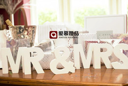 Wholesale Napkin Decorations - MR & MRS Letter Decoration White Color letters wedding and bedroom adornment mr & mrs Best Selling In Stock