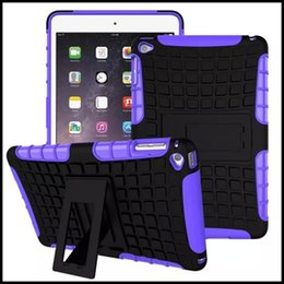 Wholesale Blue Laptop Stand - For iPad Mini 4 Case Cover Laptop Accessory Heavy Armor Hybrid Silicone Hard Stand Wallet Pouch Bag For iPad Mini 4 Pad Shell Free Ship