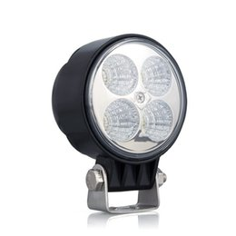 12W LED luce da lavoro 12 V 24 V Cree LED Car Light Spot Flood 10-30V per il rimorchio del camion del trattore SUV JEEP OffRoads Boat da motocicli jeep fornitori