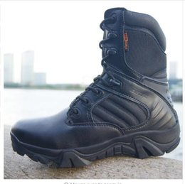 Wholesale Cowboy Ankle Boots For Men - Tactical Army Boots For Men Winter Genuine Leather Waterproof Rubber Men's Boots Safety work Shoes Military Combat Ankle Boots