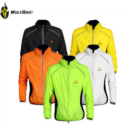 Wholesale Cycling Clothing Winter Jacket - Wholesale-2015 WOLFBIKE Breathable Men Long Sleeve Cycling Jacket Winter Jacket Wind Coat Bicycle Bike Jersey Outdoor Sports Clothing