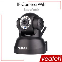 Wholesale Micro Cctv Wireless Camera - Vcatch IP Camera Wifi Wireless Mini CCTV P2P Camera Baby Monitor Security P T Micro TF Card Camera Free IOS & Android APP