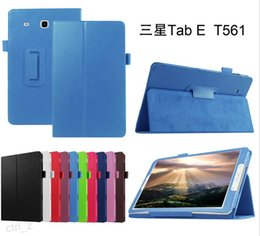 Wholesale Galaxy Tab Case Magnetic - For Galaxy Tab E 9.6 inch 360 Degree Rotating Smart Magnetic Flip Leather Case Cover Stand for Samsung T560 T561
