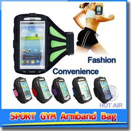 Wholesale Neoprene Sport Arm Bands - Adjustable Running SPORT GYM Armband Bag Case for apple iPhone 6 Waterproof Jogging Arm Band Mobile Phone Premium Cover