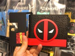 Wholesale superhero bags - Comics DC Marvel Deadpool Wallets Superhero Dead Pool Short Folding Wallet Card Money Package Bags Cartoonn Anime Leather Purse