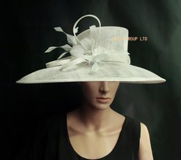Wholesale Hat Parts - IVORY Sinamay Hat Church Hat for formal occasion.Brim width 19.5cm in the biggest part.