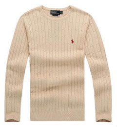 Wholesale Men S Cashmere Sweaters - 2017 high quality mile wile polo brand men's twist sweater knit cotton sweater jumper pullover sweater Free Shipping