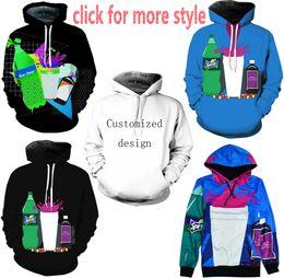Wholesale Purple Drank - New Fashion Couples Men Women Unisex Drinks Sprite 3D Print Hoodies Sweater Sweatshirt Jacket Pullover Top S-5XL TT122