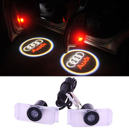 Wholesale Drill Lamp - For AUDI Car Door Projection LED Welcome Light Ghost Light Shadow Light, no drilling 3W 12V Courtesy Laser Projector Logo Ghost Shadow lamp