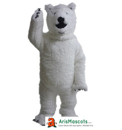 Wholesale Polar Bear Costume Adult - 100% real photos Polar Bear Mascot costume animal mascot outfit party costumes adult fancy dress free shipping