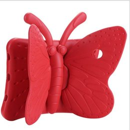 Caja de espuma gruesa para niños online-Para nuevo iPad Pro Air Mini 2 3 4 Dibujos animados en 3D mariposa niños EVA caso suave espuma gruesa cubierta a prueba de golpes