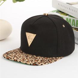 Wholesale Leopard Trukfit Hat - Wholesale-Quality Fashion Mens Adjustable hat Trukfit Black Leopard Brim Baseball Hat KPOP Cap Free Shipping