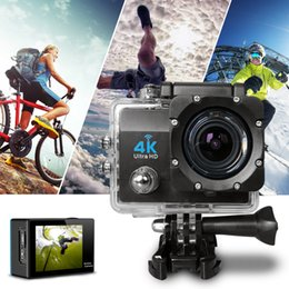 Wholesale Black Gold Motorcycle Helmet - SJ8000 go pro 4K high definition high definition gopro Camera motorcycle and bicycle helmet recorder Aerial 1080P action camera