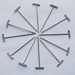 Wholesale Tools For Making Wigs - 30pcs lot T pins for wig toupees hair weaving making fixed on canvas block head T shape needles tools