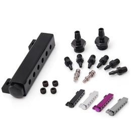 Wholesale High Vacuum Valves - Tansky - EPMAN Racing High quality 6-Port Vacuum manifold kits (SILVER, GREY, PURPLE, BLACK) Have in stock EP-01SYG
