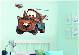 Wholesale Art Deco Vinyl Stickers - Free shipping Vintage cars removable PVC transparent film Three-dimensional art deco home decal wallpaper
