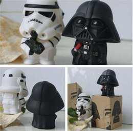 Wholesale Star Wars Box Sets - 20 sets Newest Star Wars White Horse And Soldiers Darth Vader Q Version Action Figure Toy Model For Kids 2pcs=1set in Box