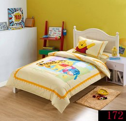 Wholesale Duvet Cover Sets Girl - Light Blue Winnie Pooh & Friends Cartoon Animation 100% Cotton 3pcs Bedding set boys and girls Bed Sets Duvet Cover Bedding Sets New Arrival