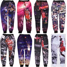 Wholesale Graphic Design Clothes - Wholesale-New design 3d trousers super basketball star play basketball graphic sweatpant men running jogger pants hip hop mens 23 clothes