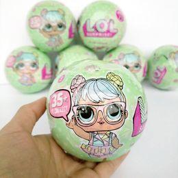 Wholesale Cute Dresses For Children - 9.5cm LOL Surprise Series 2 Big Doll Girls Dress Change Tearing Open Cute Egg Doll Action Figure Toys For Children Bath Sets