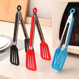 Wholesale Bbq Salads - Large Size BBQ Tongs Silicone Cover Handle Kitchen Tongs TPR and Stainless Steel BBQ Cooking Food Salad Tong Kitchen Tool