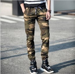 Wholesale Straight Pantalones - Camo Pants Camouflage Jogger jogging Pants Men Casual Hip Hop Camo sport Harem Pants Pantalones military cargo Trousers FREE SHIPPING