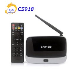 Wholesale Ddr3 Cpu - NEWest 4K Upgraded CS918 ( RK3229) 2G DDR3 8G 16G 32G Flash Quad Core CPU Support 4K Android TV Box WiFi HDMI Android 5.1 Mini PC