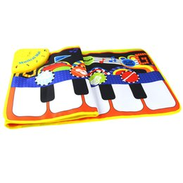 Wholesale Best Sing - Wholesale- 2017 Cartoon Touch Play Keyboard Musical Music Singing Gym Carpet Mat Best Kids Toys Dropship Y7921