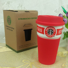 Wholesale starbucks ceramic coffee cups - Starbucks coffee cup set  Starbucks cup Coffee mug Water bottle Cute couple office Ceramics cup
