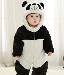 Wholesale Japanese Anime Kids Costume - Panda Child Kigurumi Baby Pajamas Toddler Animal Suits Cosplay Outfit Christmas Costume Kid Cartoon Jumpsuits Animal Warm Sleepwear