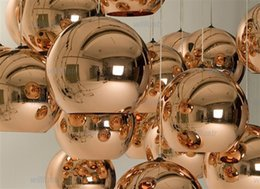Wholesale pendant lamp shades - Free shipping hot selling Tom Dixon Copper Shade Chandelier (20 25 30 35 40cm) modern lamp Pendant Lamp Ceiling lamp suspension lighting