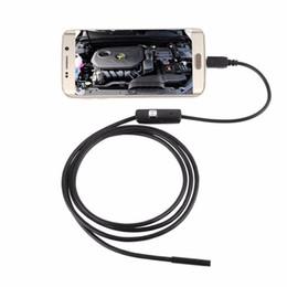 2019 ahd tester LESHP 6 LED 7mm Cable de lente Impermeable Mini cámara de boroscopio de inspección USB para Android Endoscopio 640 * 480 Teléfonos / 1280 * 720 PC