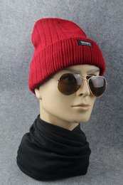 Wholesale Wholesale Yarn Products - quality products autumn winter wool hat knitted hat men's hat and velvet 8 Color mixing 30pcs