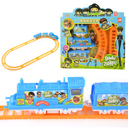 Wholesale Toy Electric Rail Set - Small electric rail trains toys Train & Railway Train Play Set battery operated Toys Gifts Children'sEducational Toy Splicing Rail Train