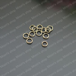 Wholesale Double Jump Rings Bronze - (26696)500PCS 5*0.5MM Antique Bronze Plated Iron Double Jump Rings & Split Rings Diy Jewelry Findings Accessories wholesale