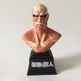 Wholesale Pvc Bust - Attack On Titan Bust Action Figure 1 8 scale painted figure Titan Bust Doll PVC figure Toy Brinquedos Anime 18CM