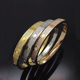 Wholesale Stainless Bangle Cz Bracelet - Top quality full with CZ diamond Brand Love Screw Bracelet Women cuff cater love bracelets Pulseira Feminina Masculin with original box