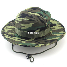 Wholesale Men Hats Wide - Fisherman hat men and women outdoor mountaineering Ben Nepalese cap fishing hat jungle camouflage military cap wholesale spot exported to So