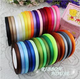 "Wholesale Ribbon 6mm - 15% off hot sale (25 yards roll ) 1 4""6mm single face satin ribbon wholesale gift packing belt wedding decoration ribbon 1250yards"