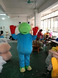 Wholesale green frogs - 2018 Hot sale common pond frog mascot costume cute cartoon clothing factory customized private custom props walking dolls doll clothing