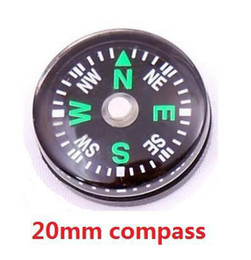 Wholesale Mini Thermometer Wholesale - Wholesale-OP-Mini compass 20mm Diameter liquid filled Plastic button compass for Hiking Camping outdoor sports 30pcs