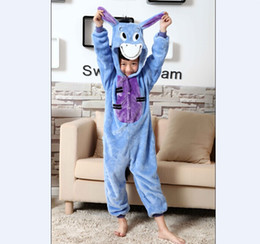 Wholesale Kigurumi Kids Sleepwear - Donkey Onesies for Kids Onesie Pajamas Kigurumi Jumpsuit Hoodies Sleepwear For Children (no claw) Welcome Wholesale Order