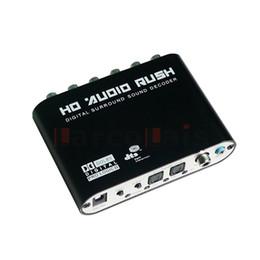 Wholesale Hdmi Spdif - HD Audio Decoder Digital Sound Decoder Optional SPDIF Coaxial to 6RCA