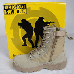Wholesale Desert Boots Delta - Delta Tactical Boots Military Desert SWAT American Combat Boots Outdoor Shoes Breathable Wearable Boots Hiking EUR size 39-45