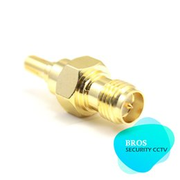 Wholesale Rp Sma Crc9 - 10pcs coaxial adapter RP-SMA Male to CRC9 male for 3G USB Modem antenna plug