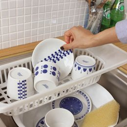 Wholesale Vegetable Drainer - Wholesale-Kitchen Sink Drain Rack cutlery shelving treatment of fruits and vegetables New Compact Dish Rack Set Drying Utensil Drainer