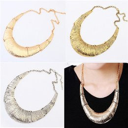 Wholesale Oversized Collar Necklace - Fashion Oversized Metal Jewelry Necklace Choker Vintage Style Collar Necklaces