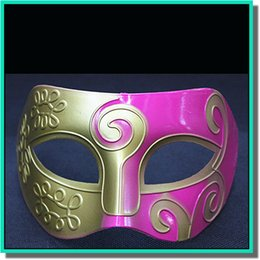 Wholesale Sliver Masquerade Masks - 10 pcs a lot colorful Half a face paint mask with gold or sliver bottom for The masquerade free shipping