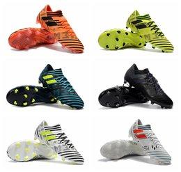 Wholesale Messi Football Boots - 2018 original soccer cleats purecontrol Nemeziz Messi 17.1 FG botas de futbol mens soccer shoes Tango cheap football boots Nemeziz 17 Orange