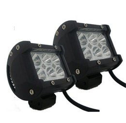 Wholesale Led Atv Flood Light - 4'' 18W 1500LM CREE LED WORK LIGHT BAR Motor LED Work ATV OffRoad Truck Fog Driving Light Flood Spot Beam IP67 Offroad Work Lamp